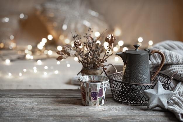 Уютные зимние детали домашнего декора