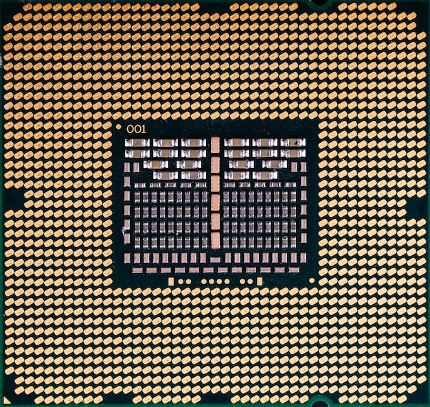 Cpu processor chip computer texture close up