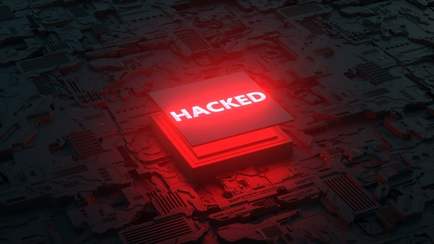 Cpuの脆弱性dはハッキングされたプロセッサの概念をレンダリングします