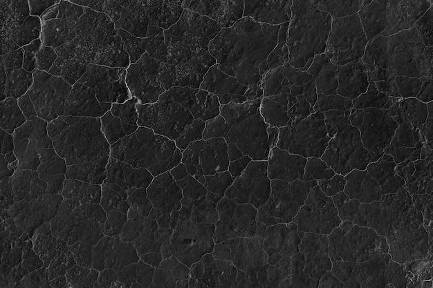 Cracked black wall texture