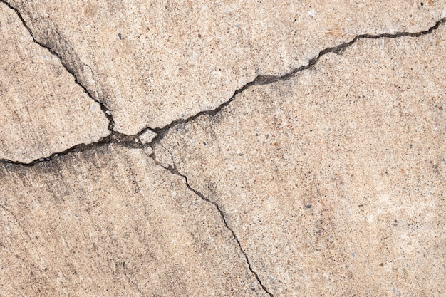 Cracked cement texture on floor or wall background.