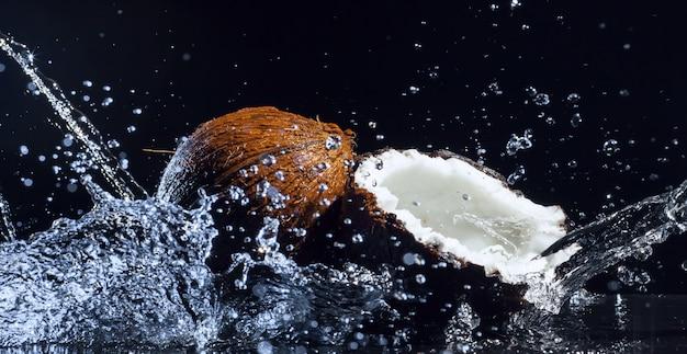 Cracked coconut