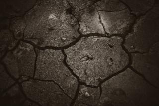 Cracked dark mud