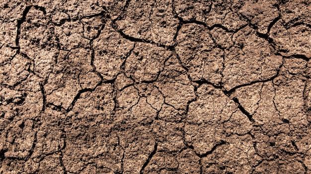 Треснувшая земля во время засухи