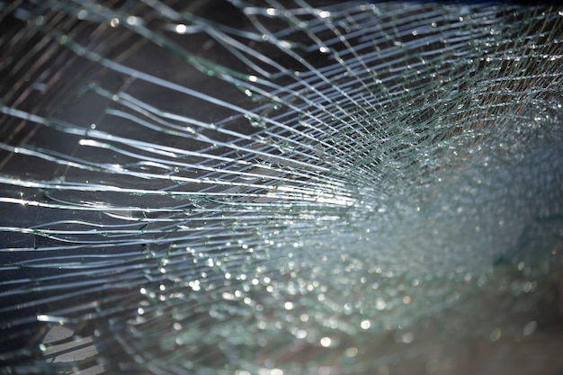 Cracked glass texture background.