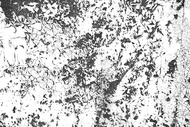ひびの入ったグランジペイントコントラスト黒と白のテクスチャ