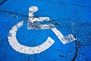 Cracked handicap sign  handicapped