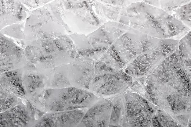 Cracked ice block.