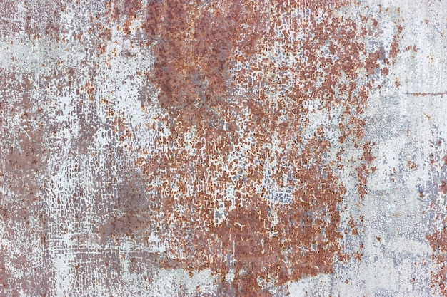 Cracked painted old metal texture background. rusted surface