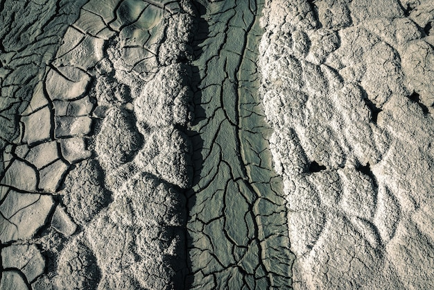 Cracked volcanic soil background texture