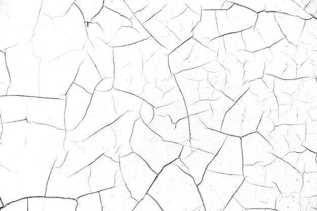Cracked  wall texture white background