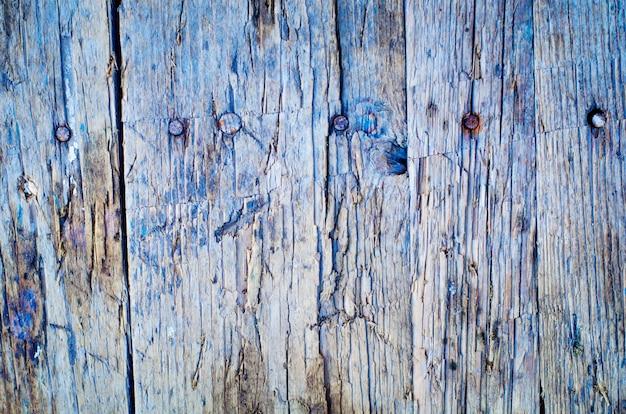 ひびの入った風化天然木の板のテクスチャ、フロントビュー