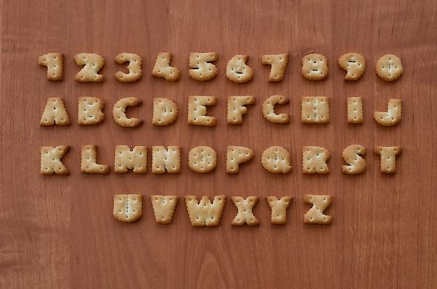 Cracker alphabet characters