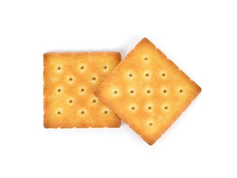 Cracker isolated on over white background