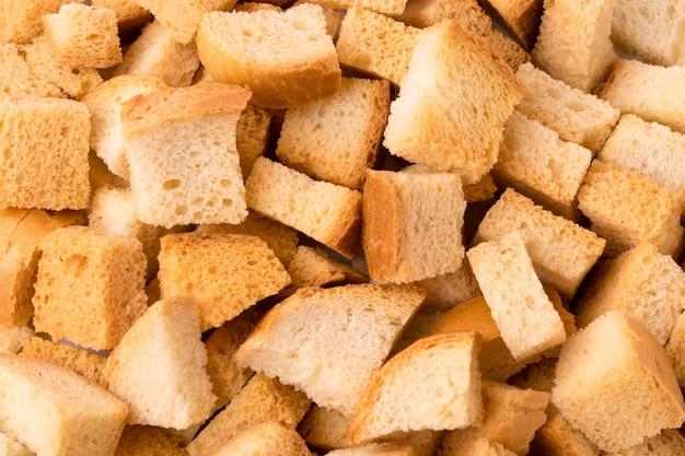 Крупный план хлеба крекеров. вид сверху