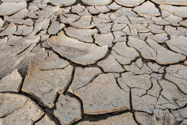 Cracks in the ground, deep crack, cracked desert landscape, effects of heat and drought