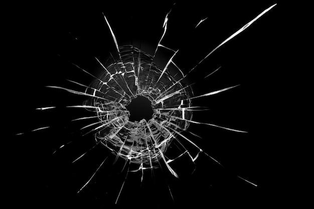 窓のひび割れ