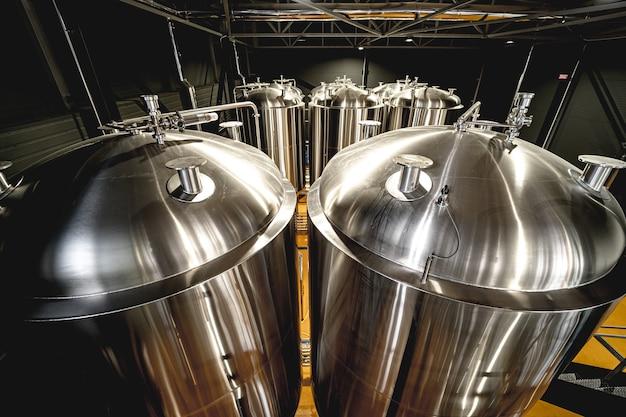 개인 양조장의 수제 맥주 양조 장비