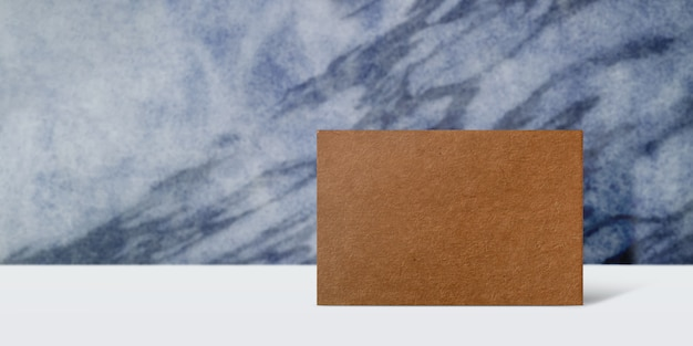 Craft business paper card for mockup. blank for copy space