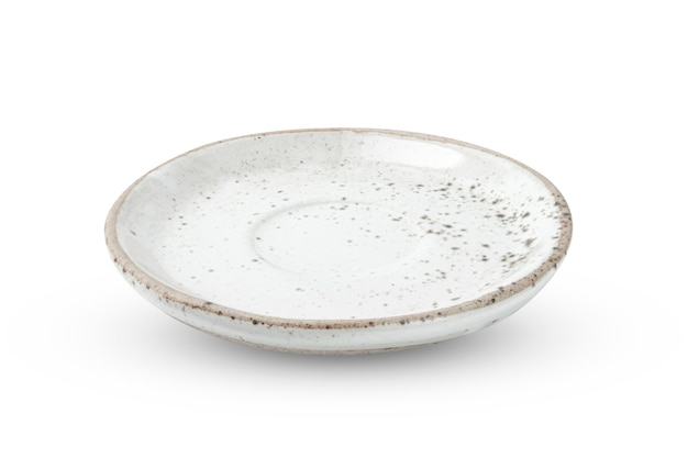 Керамика ремесла взгляд сверху изолированный на белизне изолировал предпосылку с путем клиппирования.