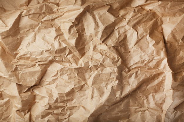 Craft crumpled paper as a texture surface