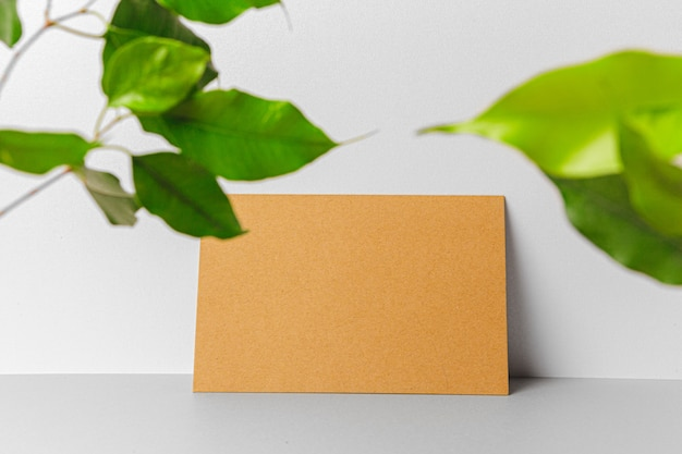 Craft envelope with leaves