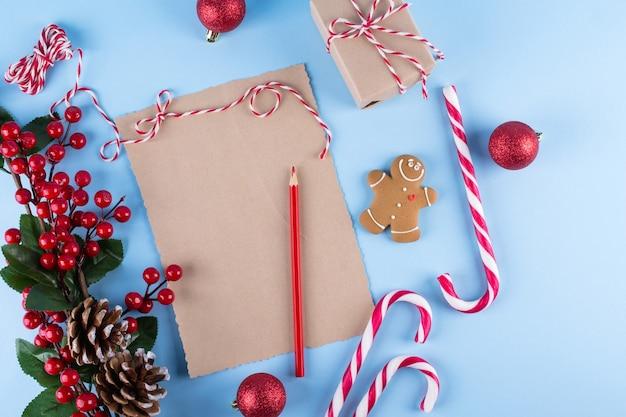 크리스마스 스타일의 공예 종이 카드 및 장식