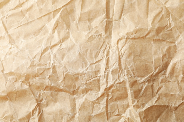 Craft paper texture background, close up and space for text