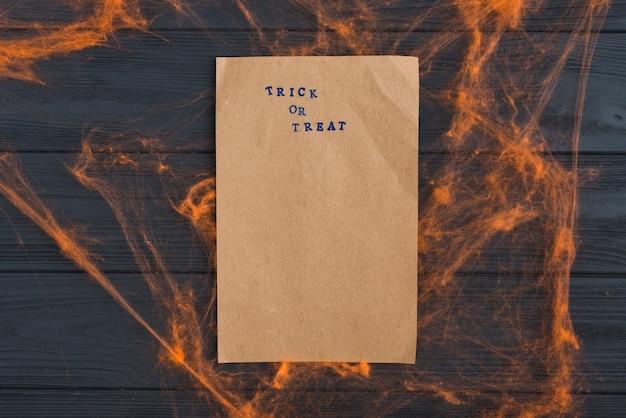 Craft paper with orange gossamer effects