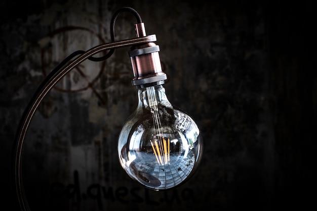 크래프트 테이블 램프 데스크, 에디슨 램프, 콘크리트 플랫폼, nge 지 다리, 야간 램프, 로프트 램프