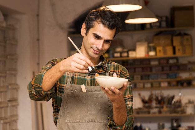 Craftman in workshop