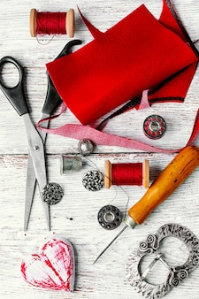 Crafts with leather materials