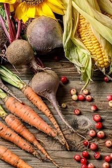 クランベリーと生野菜