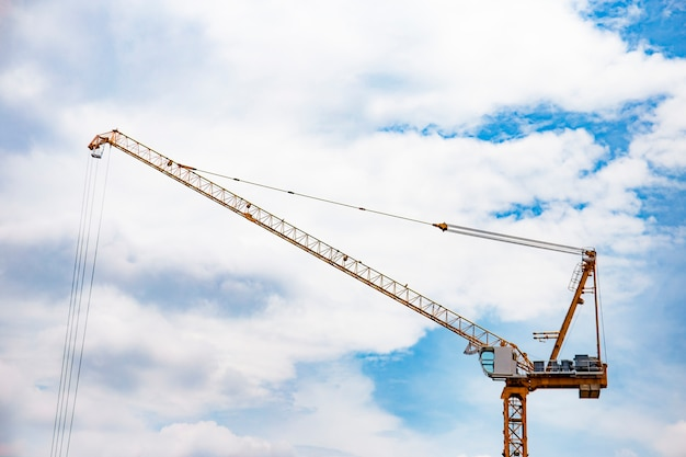 Crane construction building towers