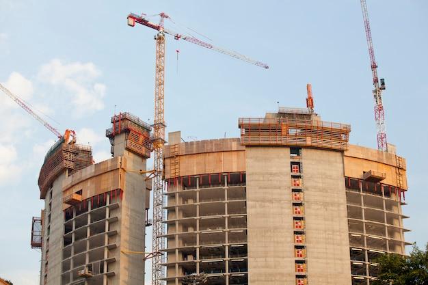 Crane in a construction site, milan