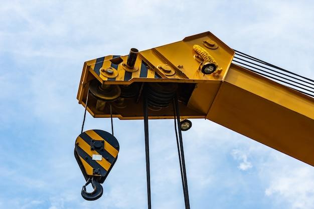 Crane operator works.