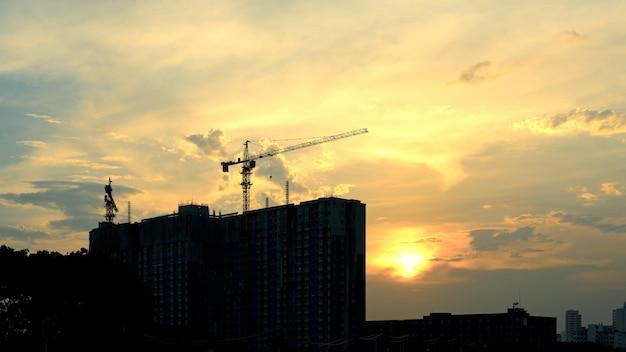 Crane silhouette