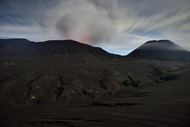 Crater of bromo volcano,during sunrise from viewpoint in bromo tengger semeru national park, east java, indonesia