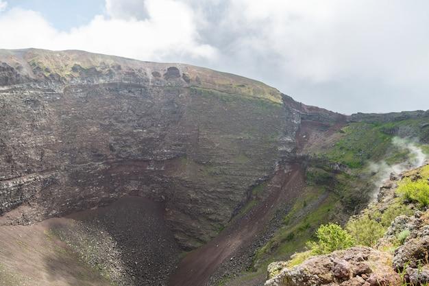Crater of mount vesuvius, naples, italy.