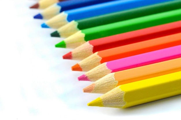Crayons isolated