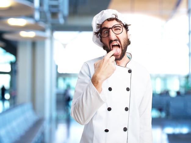 미친 요리사 화난 표정