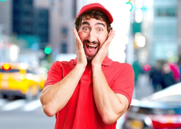 Crazy dealer surprised expression