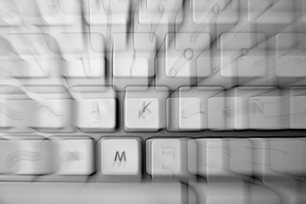 Crazy keyborad blurred keys disease metaphor
