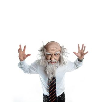 白のクレイジー老人