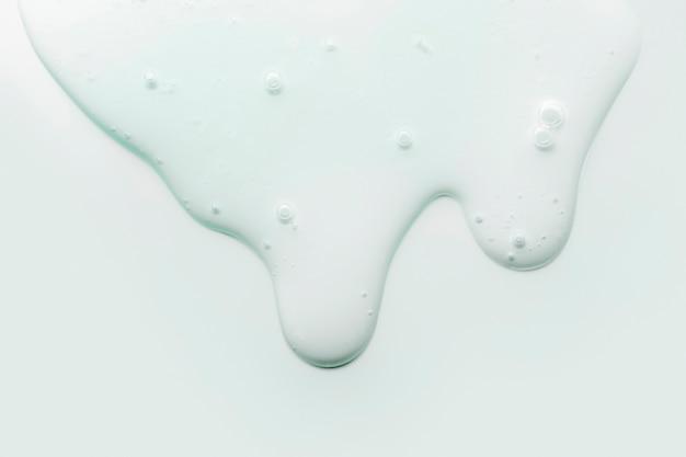 거품 배경 크림 젤 유체 회색 파란색 투명 화장품 샘플 텍스처