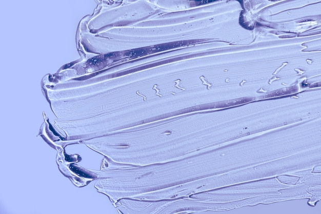 Cream gel purple transparent cosmetic sample texture smudge background