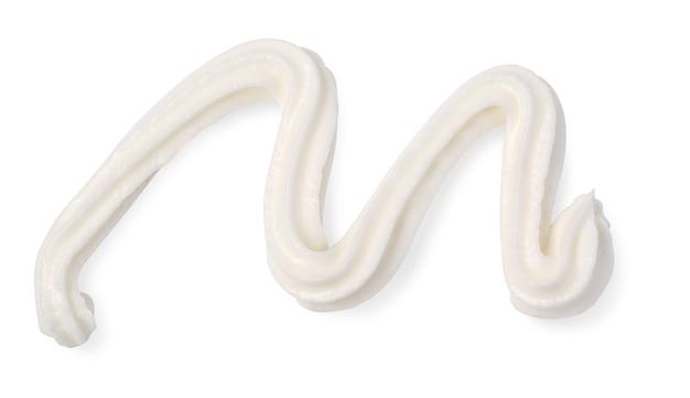 크림 흰색 배경에 고립