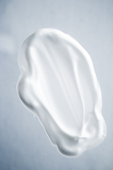 Cream soap hand wash sanitizer or cosmetic smear as antibacterial cleanse and hygiene texture shavin...