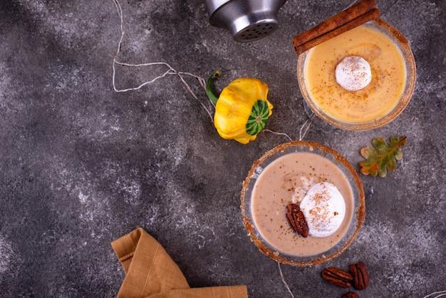 Сливочный коктейль с тыквой и орехом пекан