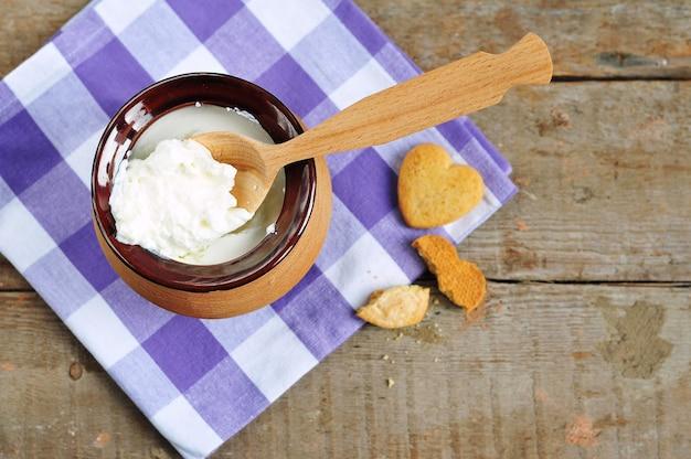 항아리와 쿠키의 크림 코티지 치즈